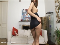 Hot babe strips and fu... from Xhamster