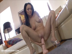 Hot babe strips and ri...