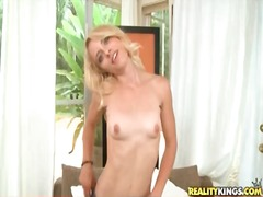 Petite blonde doing sp...
