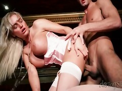 Slut in pink satin fuc...