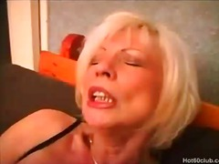 Mature granny toying