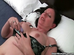 Horny mature mom with ...