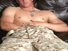 Filthy soldier all alone from BoyFriendTV