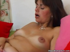 Hairy and mature mom m...