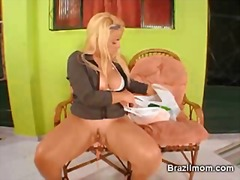 Brazilian milf toy her...