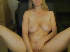 Horny milf playing wit...