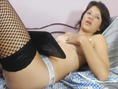 Private Home Clips - Solo chick in hawt nylons
