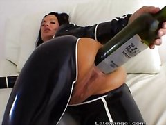 Huge anal bottle fuck from Redtube