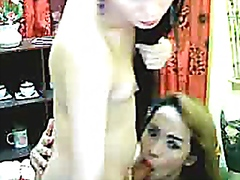Asian Tranny Couple Ha...