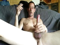 Mature gay guy whacking off