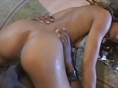 Tight black pussy gets...