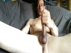 Guy jerking his big cock from BoyFriendTV