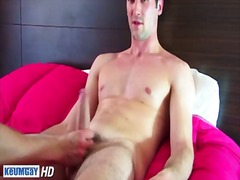 Sexy hunk whacking off...