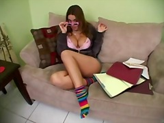She is trying to study... from Xhamster