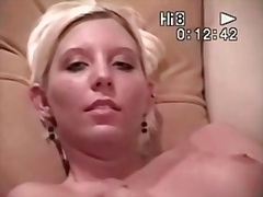 Golden-Haired gal solo... from Private Home Clips