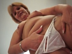 Mom strips off white l... from Alpha Porno
