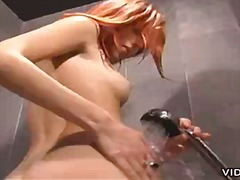 Redhead slut gives bus...