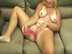Horny fat blonde bitch...