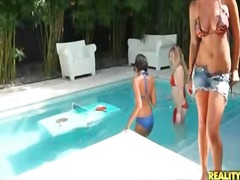 Bikini girls play topl... from Alpha Porno