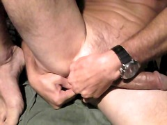 Nasty guy solo jerking