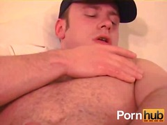 Aroused dude whacking off from BoyFriendTV