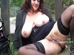 Tube8 - Chubby milfs outdoor m...