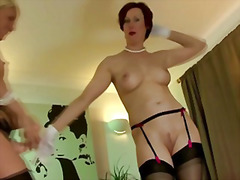 Mature stocking lesbia... from H2porn