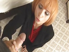 Milf enjoys stroking a...