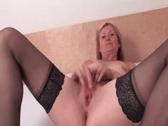Cute blonde mature mod... from Alpha Porno