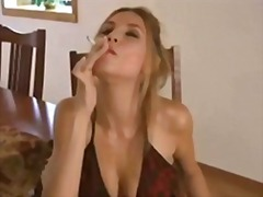 Bad girl smoking. joi