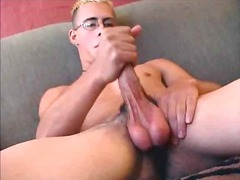Cute guy whacking off ...