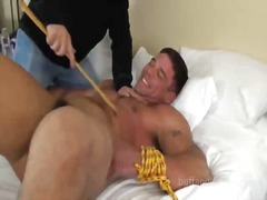 Bound guy gets feet ti...