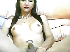 Ts babe jerking off  from H2porn