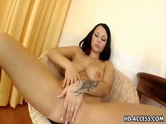 Dominno solo dildo show from Ah-Me