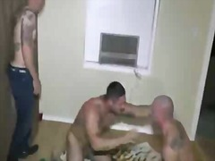 Guys in tats jerking off from BoyFriendTV
