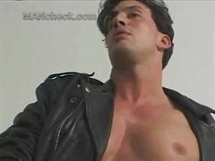 Filthy wanker in leath... from BoyFriendTV