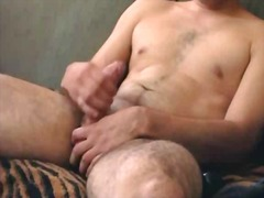 Sexy guy jacking off
