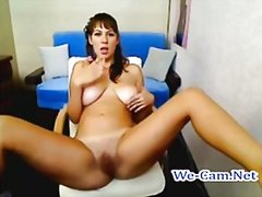 Busty camgirl naked ch...