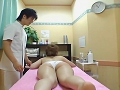 Oiled up Jap gets fing... from Voyeur Hit