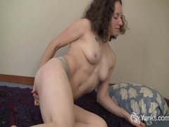 Curly haired nina fing... from Alpha Porno
