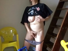 Big titty mature finge...
