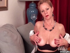 Mature lady with d-cup... from Alpha Porno