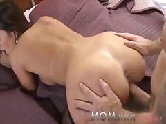 Passionate sex of mom ...