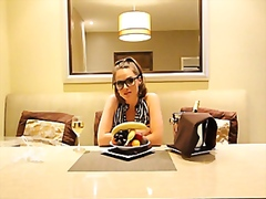 Tori Black loves banan...