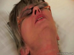 Horny granny masturbating from Ah-Me