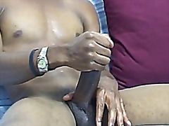 Gay video Stroking his...