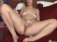 Blonde Ruby Toy Her Pussy from Vporn