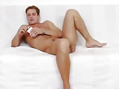 Nylon wrapped gay cock