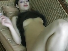 Brunette babe in sexy ... from Private Home Clips