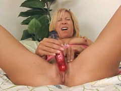 Blonde milf sits her c... from Alpha Porno